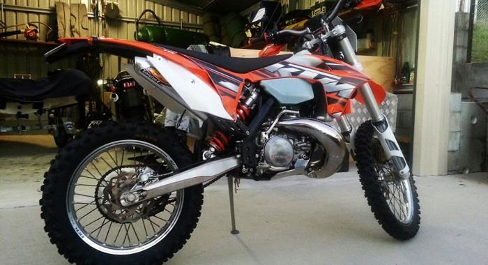 Brad's KTM 250EXC-E