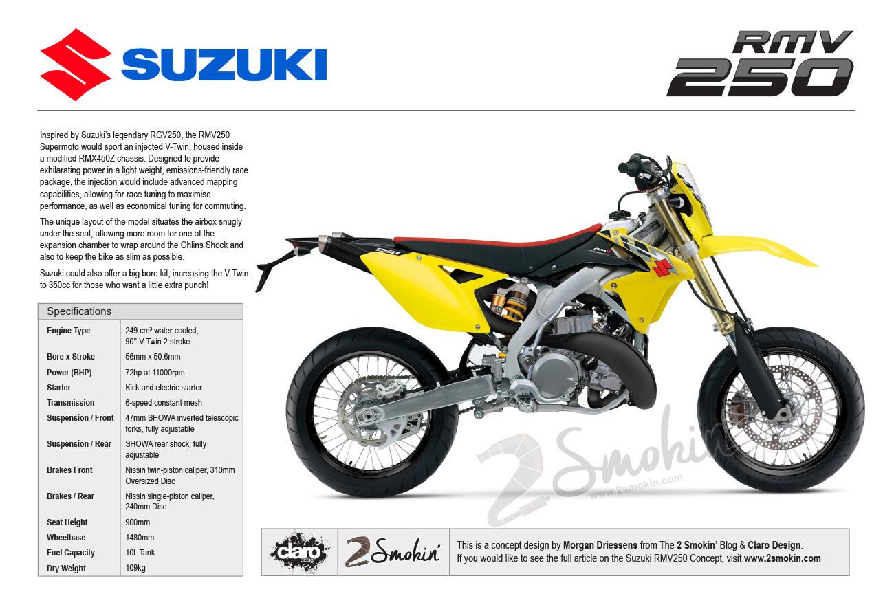 The Suzuki RMV250 V-Twin Concept