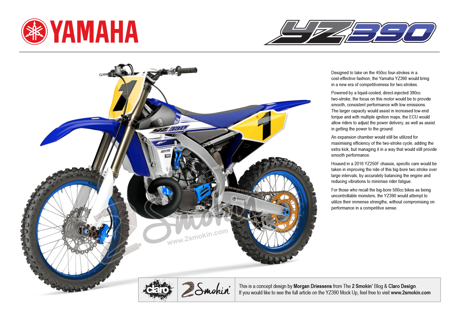 Yamaha YZ390 Article
