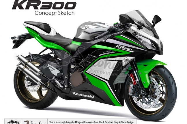 Kawasaki KR300 Injected Concept | 2 Smokin' – Passion for 2