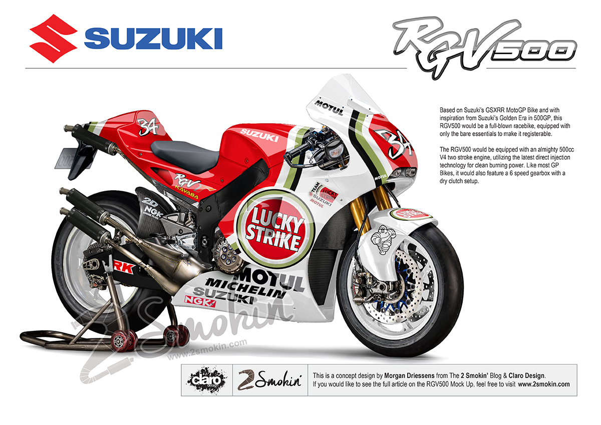 RGV500 Dream Street Bike Mock Up | 2 Smokin' – Passion for 2-Strokes