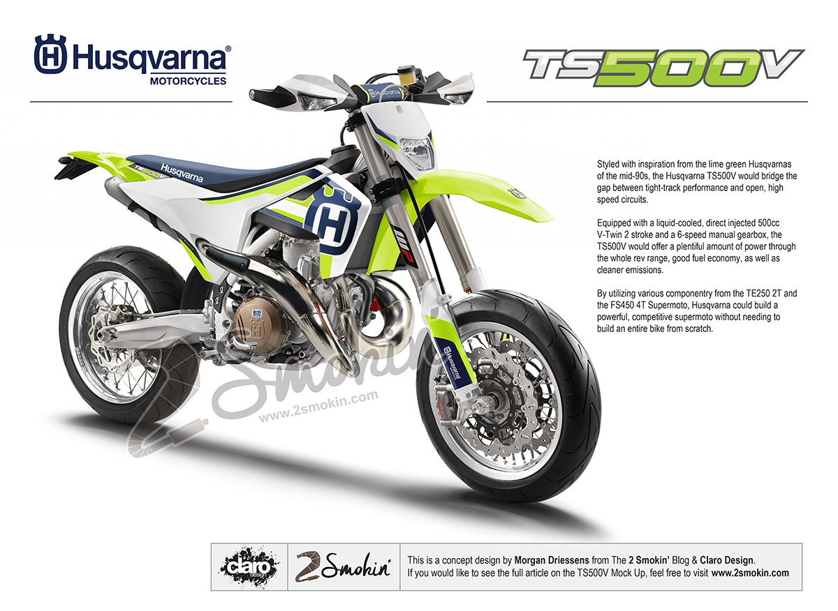 Husqvarna TS500V Conceptual Mock Up