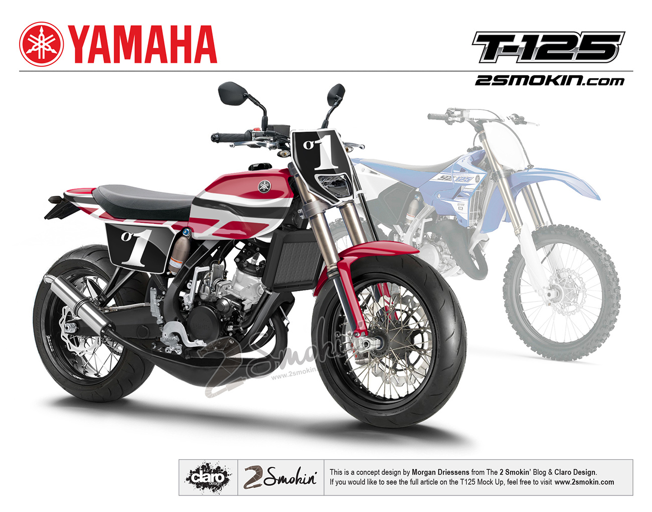 The Yamaha T-125 Concept with the YZ125